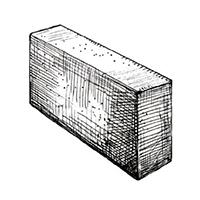 Блок полнотелый перегородочный