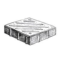 Квадрат тактильный (диагональ)
