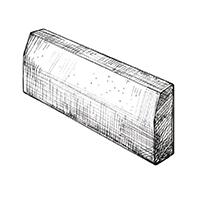 Бортовой камень с фаской 1000х600х150