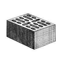 Керамзитобетонный стеновой 18-щелевой блок