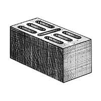 Бетонный стеновой 7-щелевой блок