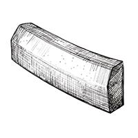 Бортовой камень радиусный с фаской