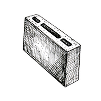 Бетонный пустотелый перегородочный блок 390х90х190