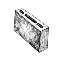Керамзитобетонный пустотелый перегородочный блок  390х90х190