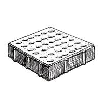 Квадрат тактильный (конус)