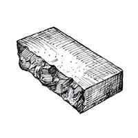 Бетонный колотый кирпич